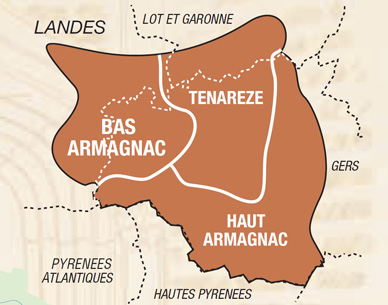 Lieux de production Armagnac